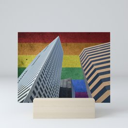 Houston LGBTQ Pride Skyline Mini Art Print