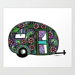 Happy Camper in Color Art Print