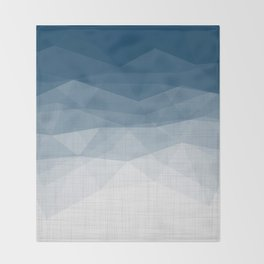 Imperial Topaz - Geometric Triangles Minimalism Throw Blanket
