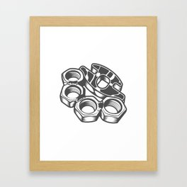 "Fashion Modern Design Print ""Brass Knuckles""! Rap, Hip Hop, Rock style and more Framed Art Print"
