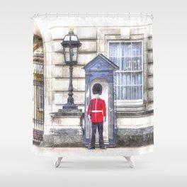 Buckingham Palace Queens Guard Art Shower Curtain