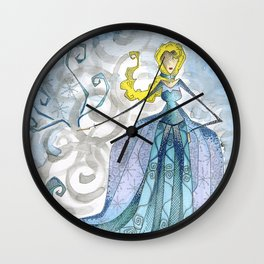 The Cold Never Bothered Me Anyway Wall Clock