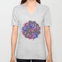 The Devil's Flower Garden - Demonic Eyeball Flowers Unisex V-Neck