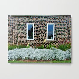 Bottle House Wall Metal Print