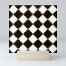 Geometric ornament gold seamless pattern Mini Art Print