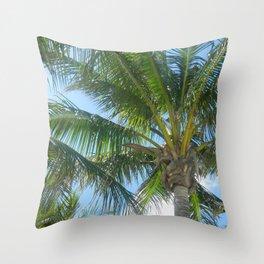 Palm Tree Throw Pillow
