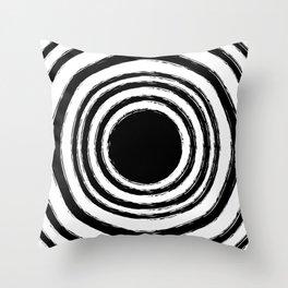 Painted Circles Throw Pillow