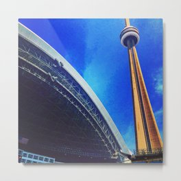 Toronto BlueJay's Fan View of CN Tower Metal Print