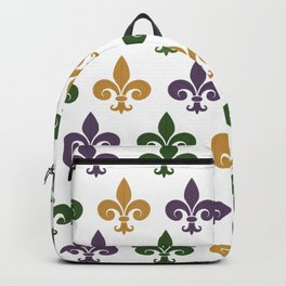 Mardi Gras Fleur-de-lis Backpack