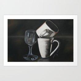leaning tower of teas Art Print