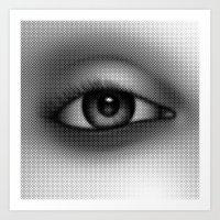 Halftone Eye Art Print