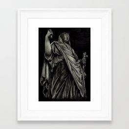 Robed Figure Framed Art Print