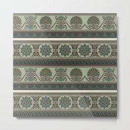 Neo-Greek antique pattern. Greek fine art. Metal Print