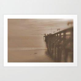 The Pier at Capitola Art Print