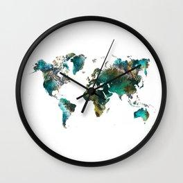 Map of the World tree #map #world Wall Clock