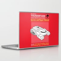 thundercats Laptop & iPad Skins featuring Thundertank Service and Repair Manual by adho1982
