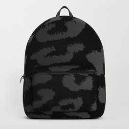 Black & Gray Metallic Leopard Print Backpack