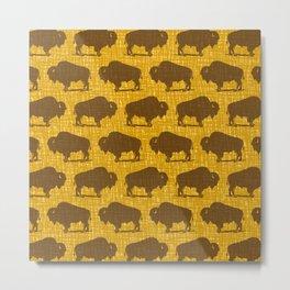 Buffalo Bison Pattern 288 Metal Print