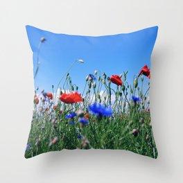 poppy flower no12 Throw Pillow