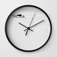 surfing Wall Clocks featuring surfing by cOnNymArshAuS