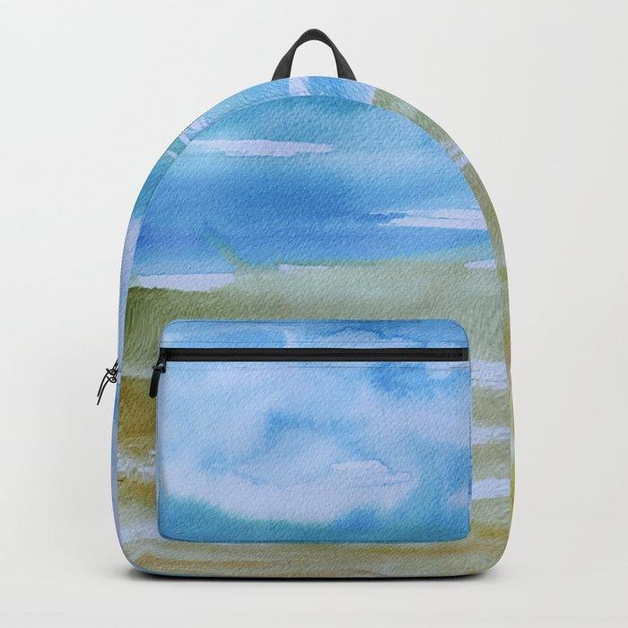 Miami Beach Watercolor #7 Backpack