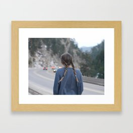 Highways and Headlights Framed Art Print