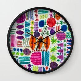 Happy Abstract Pattern Wall Clock