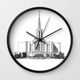 Jordan River LDS Temple Wall Clock