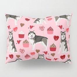 Alaskan malamute cupcakes love valentines day dog breed pet lover malamute gifts Pillow Sham