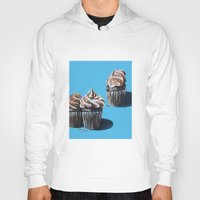 cupcakes Hoodies featuring Cupcakes by Jody Edwards Art
