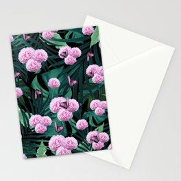 Tropical Peonies Dream #1 #floral #foliage #decor #art #society6 Stationery Cards