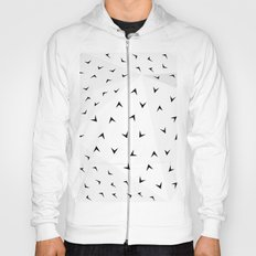 Folded Arrows Pattern Hoody
