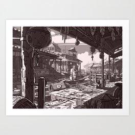 En Avance Art Print