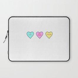 Conversation Hearts Laptop Sleeve