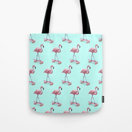 Skating Flamingo Tote Bag