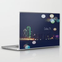 dallas Laptop & iPad Skins featuring Dallas, TX by missdolly