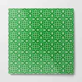 Green Geometric Pattern Metal Print