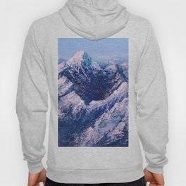 Textured Mountain Painting for Dad Hoody