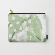 Palm Leaf Greens 2 - Abstract digital painting Carry-All Pouch