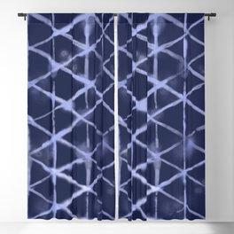 Shibori Isometric Blue Pattern Blackout Curtain