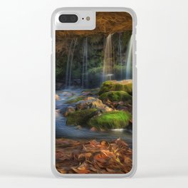 Sgwd Ddwli Uchaf waterfall Clear iPhone Case