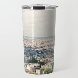 Eiffel Tower Aerial City View from Sacre Coeur Paris, France Travel Mug