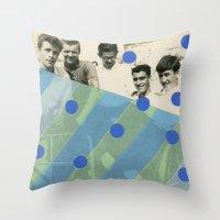 boys Throw Pillows featuring Boys by Naomi Vona