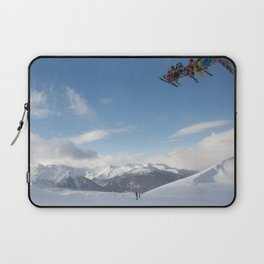 Skiers on chairlift 2 Laptop Sleeve