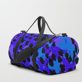 Cheetah Spots in Shade of Purple and Blue Duffle Bag