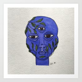 BLUE BOY Art Print