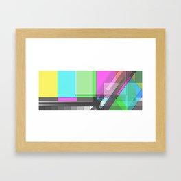 Color/Colour Bars Framed Art Print