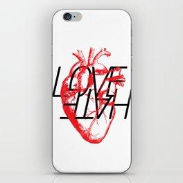 LOVE  –VS– HATE iPhone Skin