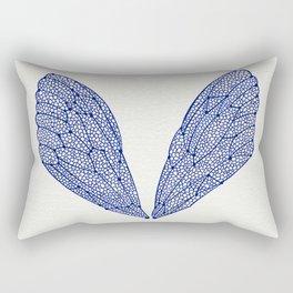 Navy Cicada Wings Rectangular Pillow