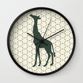 Giraffe in the Woods Wall Clock